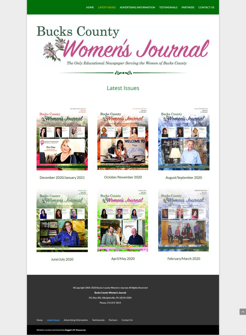 BCWJ latest issues screenshot