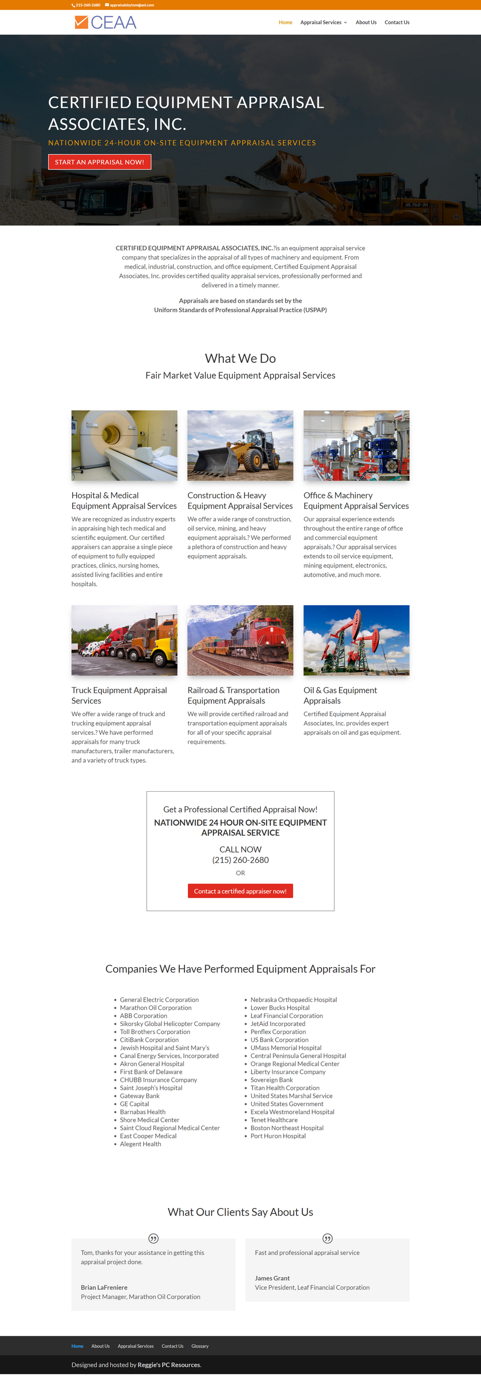 CEAA Homepage Screenshot